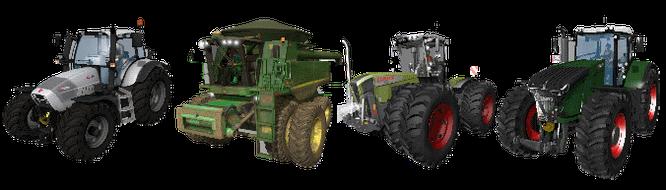 Vehicles/Fahrzeuge free download ls 15 Traktoren Mähdrescher Häcksler Erntemaschinen Rübenernter Kartoffelernter LKW Radlader