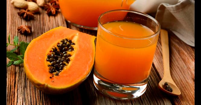 Jugo de papaya con fresa