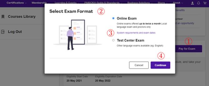 PMP®オンライン試験 新制度変更点のイメージ画像