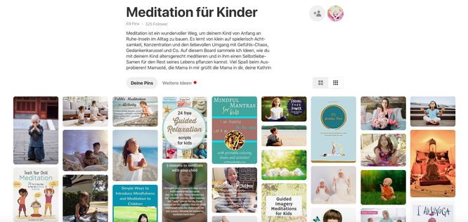 Meditation für Kinder – mein MOMazing-Board bei Pinterest