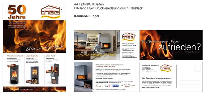Faltblatt und Flyer Kaminbau Engel GmbH & Co.KG