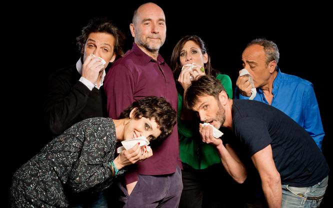 Adriana Ozores, Ernesto Alterio, Fernando Tejero, Malena Alterio y Enric Benavent. Fotografía: Javier Naval