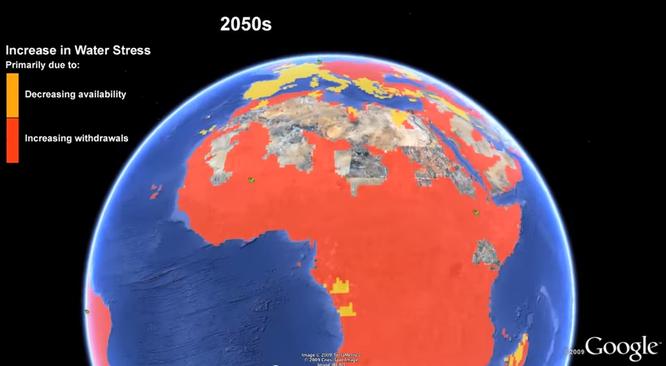 Predicción cambio climático para el año 2050.