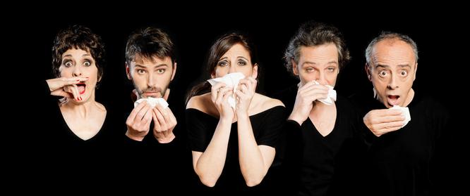 Adriana Ozores, Fernando Tejero, Malena Alterio, Ernesto Alterio y Enric Benavent. Fotografía: Javier Naval.