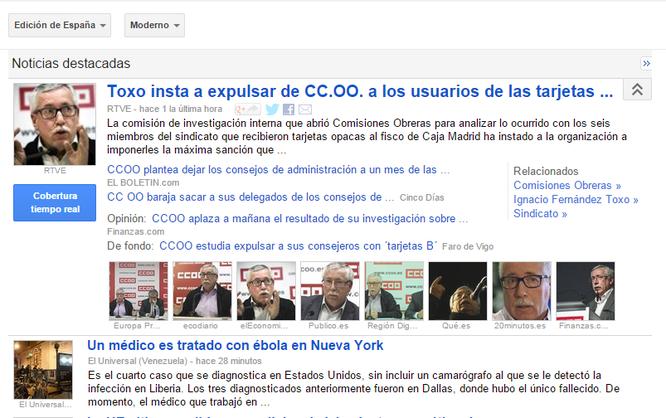 Captura de pantalla Google News.