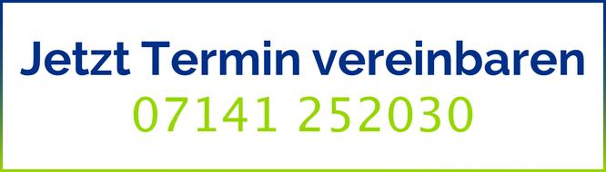 Ein Angebot direkt mit unserer Gemeinschaftspraxis Maiwald Staudenmayer in Ludwigsburg Kontakt aufzunehmen unter der Telefonnummer der Praxis: 07141 252030