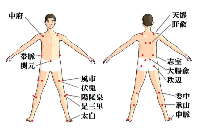 腰痛の置き針