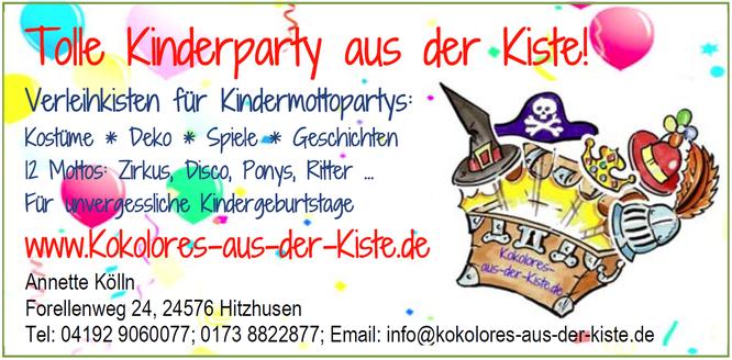 Kindergeburtstage und Kinderpartys mit Kokolores-aus-der-Kiste.de