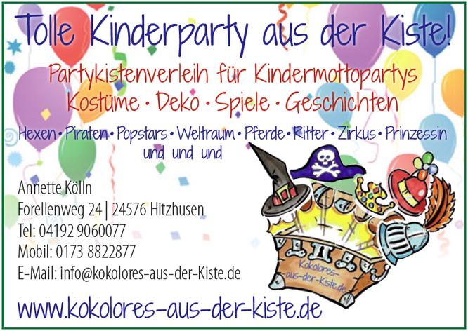 Anzeige Krabauter: Kinderpartys und Kindergeburtstage mit Kokolores-aus-der-Kiste.de