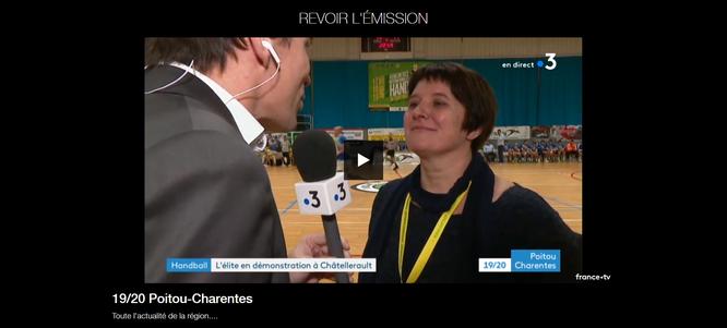 Replay à voir sur le site de France 3 Nouvelle-Aquitaine, rubrique JT 19/20 Poitou-Charente, à partir 20'56