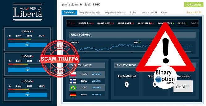 via per la libertà trading robot truffa scam