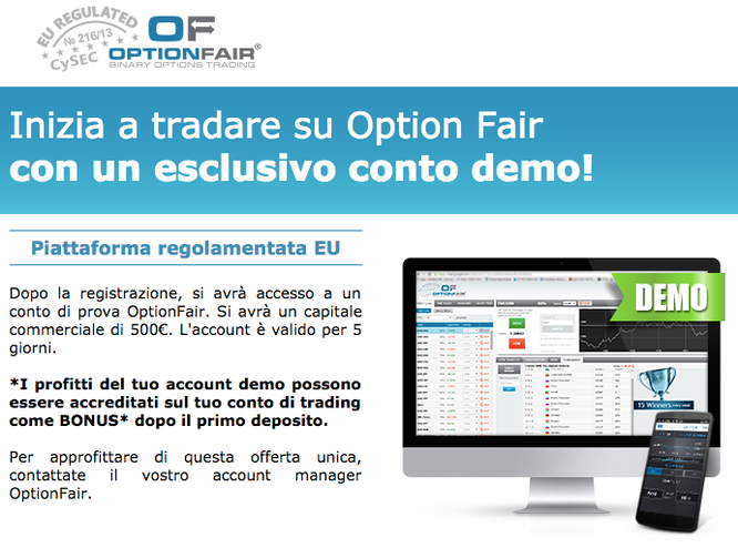 apri un conto demo optionfair gratis senza deposito