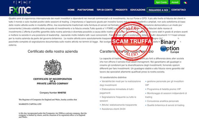 fxmc broker truffa forex no licenza