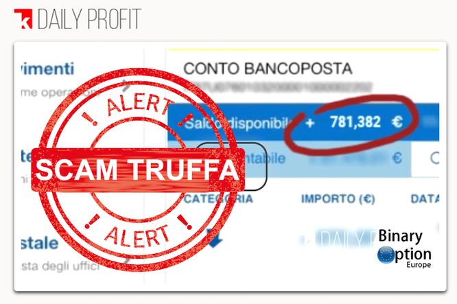 1k daily profit truffa conto banco posta