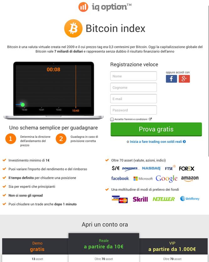Tradare bitcoin con iqoption opzioni demo gratis guadagnare soldi