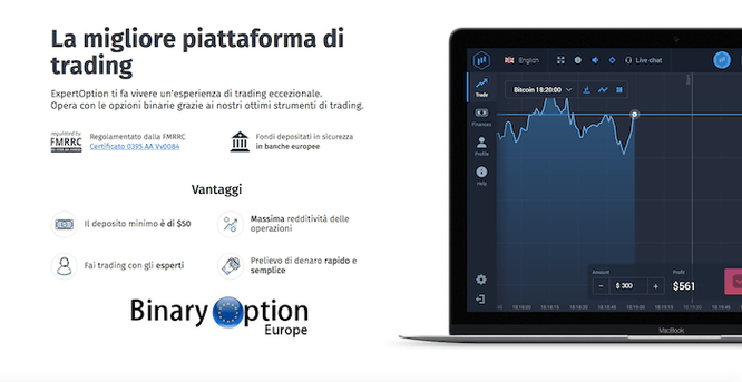expertoption piattaforma opzioni binarie