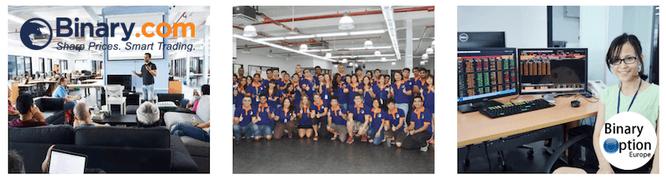 binary.com team gruppo consulenti