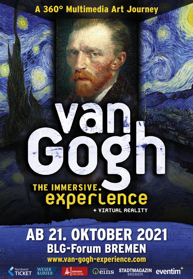 Van Gogh Ausstellung Bremen 2021 2022 Magazin Stadtteil Bremen Einzelhandel Gastro Restaurants essen gehen