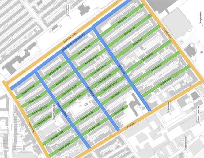 Gebiet 1 Bewohnerparken für Findorff