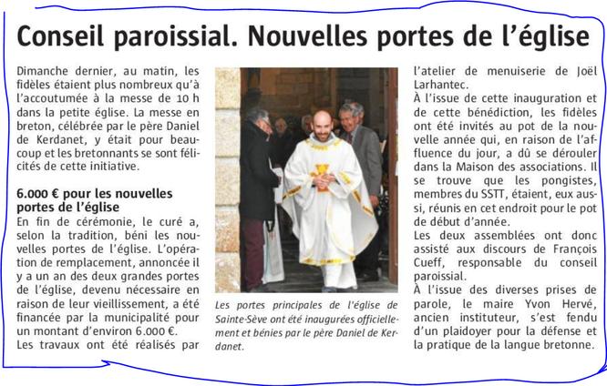 Le Télégramme - Merc. 10/01/2018-Edition de Morlaix