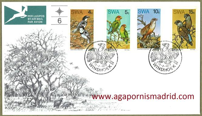 1974 FDC África del Sudoeste