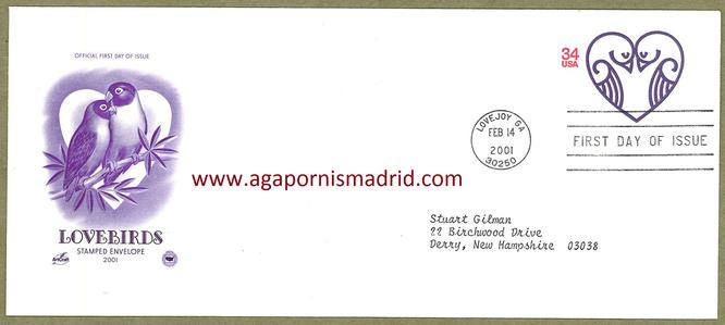2001 FDC Estados Unidos