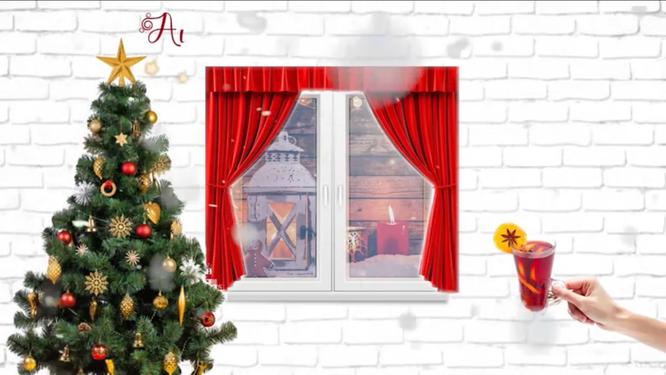 Das erste Adventsfenster in Auersmacher ist geöffnet.