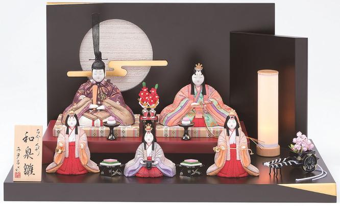 真多呂人形「和泉雛5人飾り」品番:1376