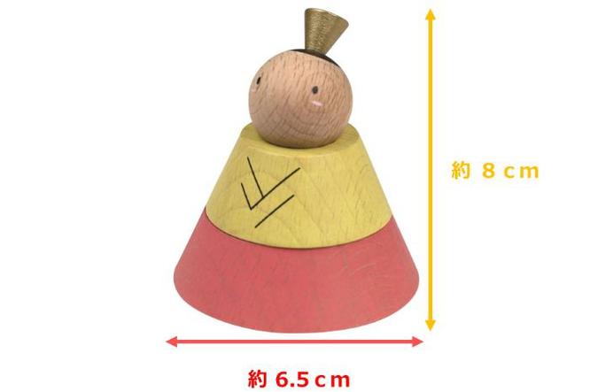 プーカのひな人形 ひなのサイズ