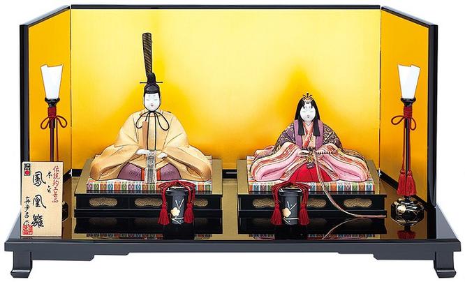 真多呂人形 親王飾り「本金 鳳凰雛セット」品番:1811 伝統的工芸品