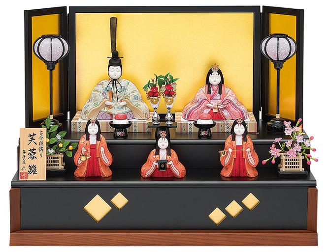 真多呂人形「芙蓉雛5人飾り」品番:1336