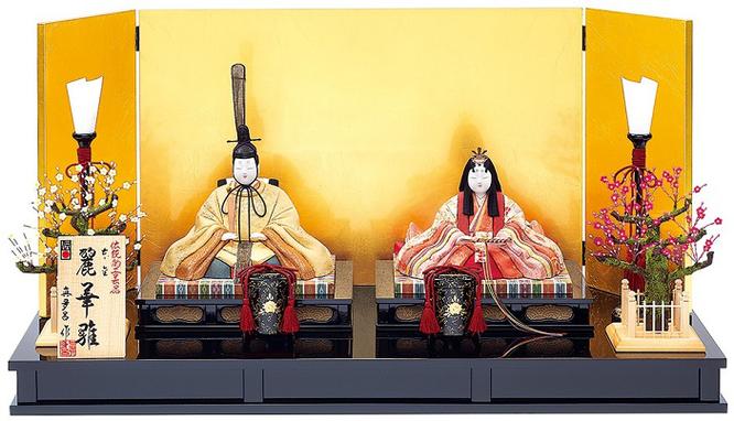真多呂人形 親王飾り「本金 麗華雛セット」品番:1881 伝統的工芸品