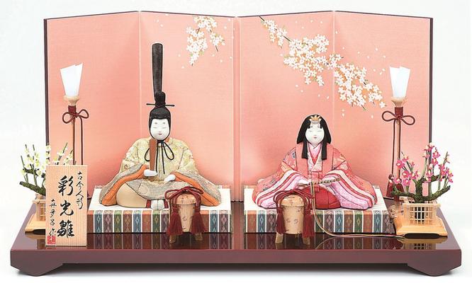 真多呂人形 親王飾り「彩光雛セット」 品番:1269