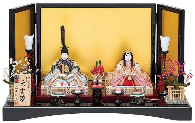 真多呂人形 親王飾り「本金 天宝雛セット」品番:1885 伝統的工芸品