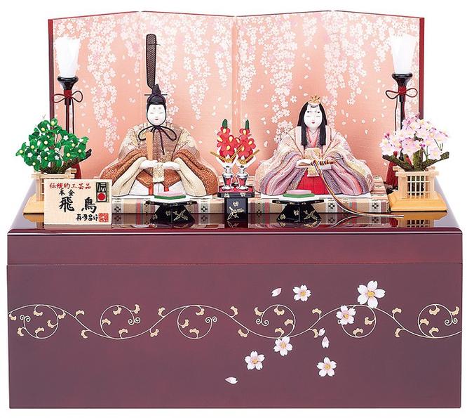 真多呂人形 親王飾り「本金 飛鳥雛セット」品番:1889 収納式