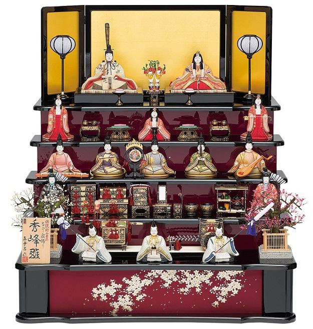 真多呂人形「秀峰雛15人飾り」品番:1306