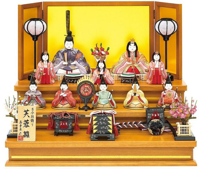 真多呂人形「芙蓉雛10人飾り」品番:1331