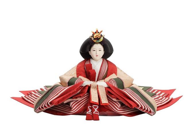 優香作「親王飾り」麹塵 女雛(京十一)