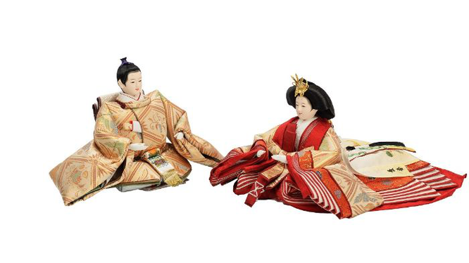 優香作ひな人形 親王 桐鳳襷紋(川島織物)