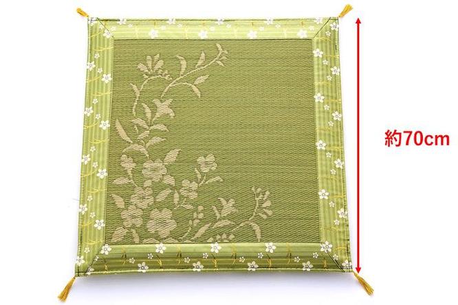 お盆用い草座布団(70cm)サイズイメージ