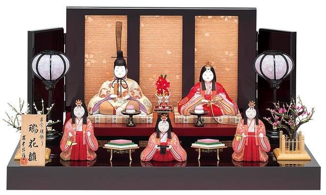 真多呂人形「瑞花雛5人飾り」品番:1337