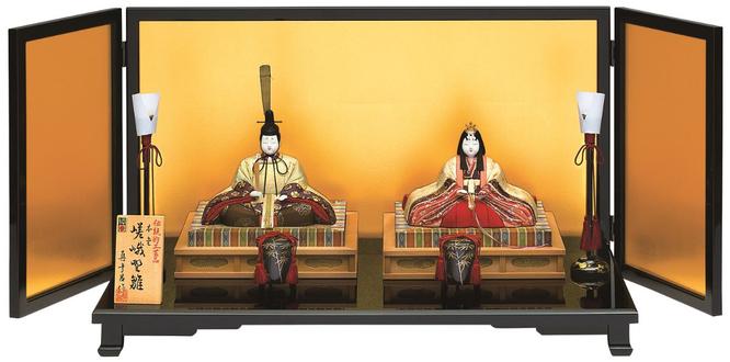真多呂人形 親王飾り「本金 嵯峨野雛セット」品番:1814 伝統的工芸品