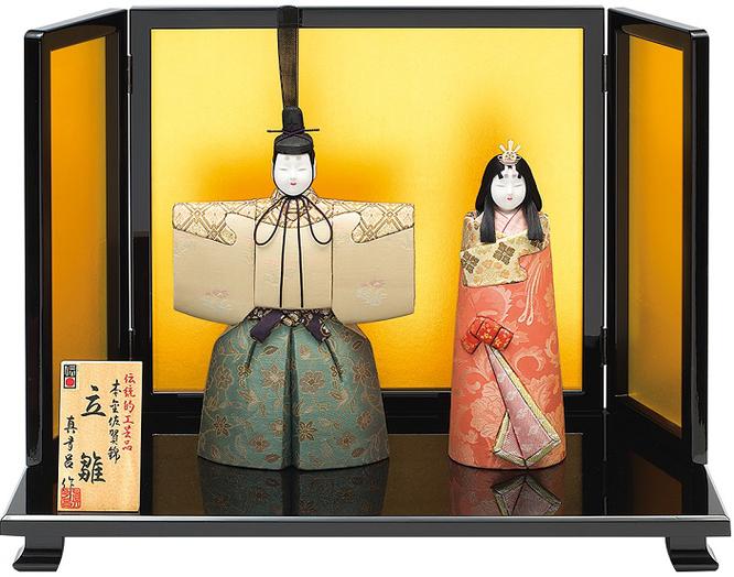 真多呂人形 親王飾り「本金 華宝立雛セット」 伝統的工芸品 品番:1908