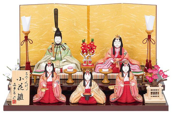 真多呂人形「小花雛5人飾り」品番:1361