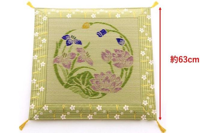 お盆用コンパクトい草座布団(63cm)サイズイメージ