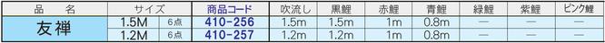 にわデコセット「友禅鯉」サイズ表