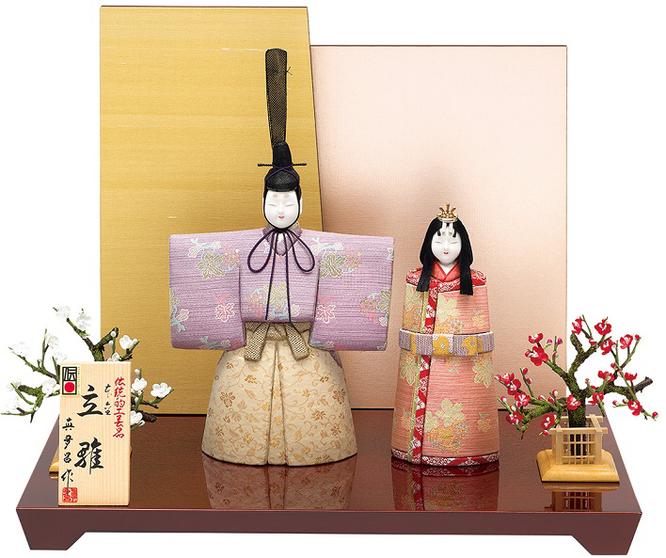 真多呂人形 親王飾り「本金 千寿立雛セット」 伝統的工芸品 品番:1955