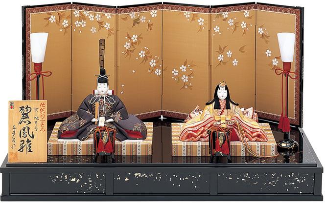 真多呂人形 親王飾り「帯地本金 麗鳳雛セット」品番:1826 伝統的工芸品