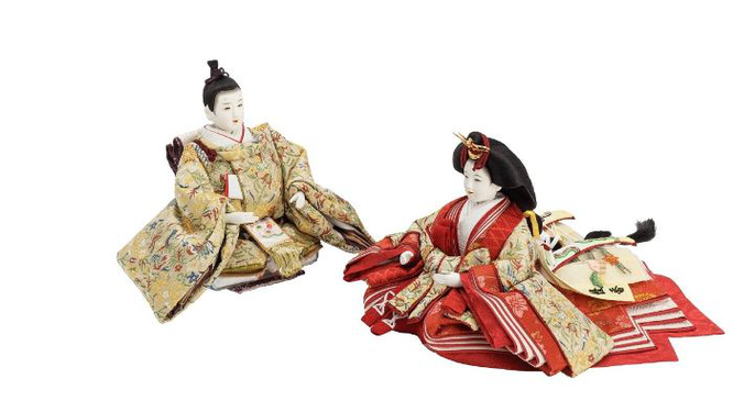 優香作ひな人形 親王 趣楽(川島織物)