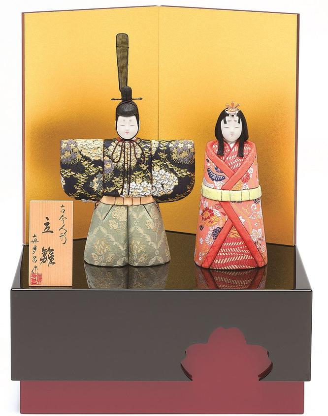 真多呂人形 親王飾り「彩明立雛セット」品番:1170